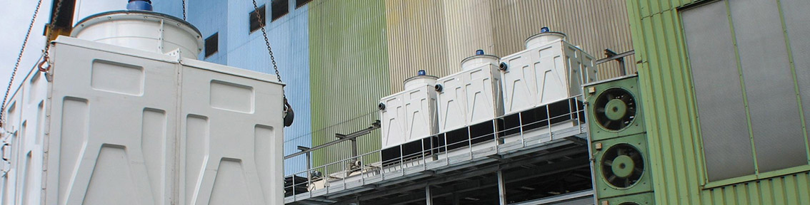 Standard package type cooling towers